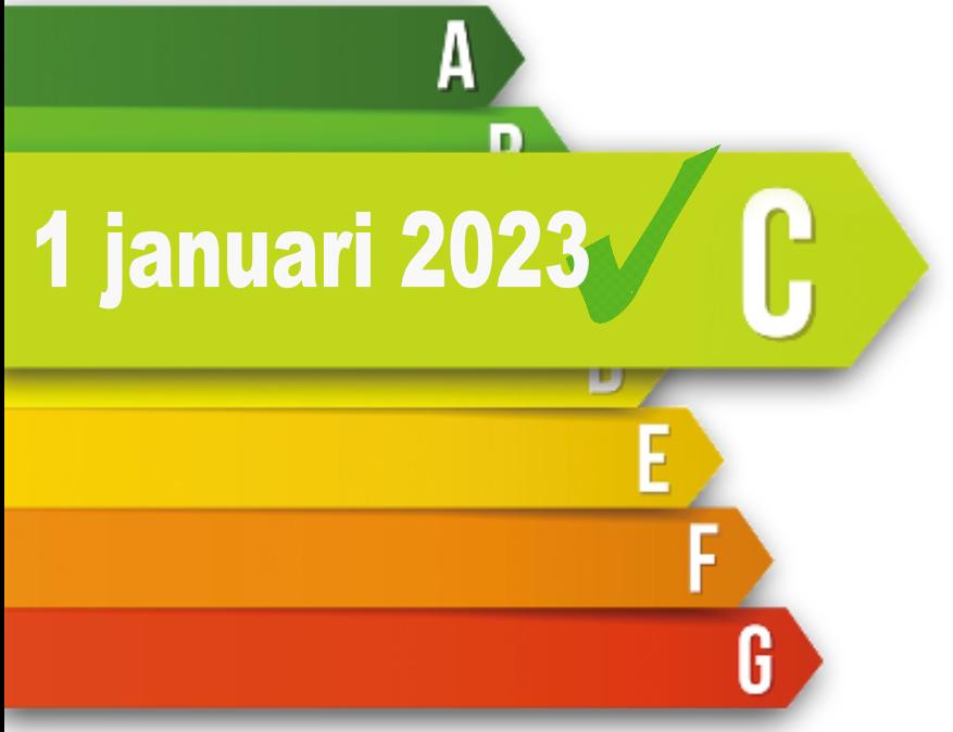 Verplicht Energielabel C voor kantoren per januari 2023!
