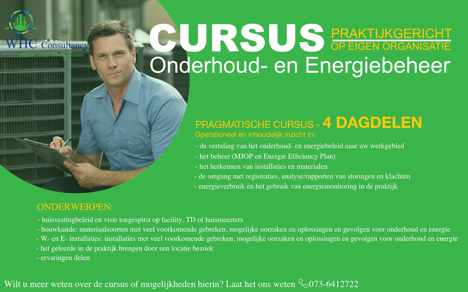 Cursus Onderhoud- en Energiebeheer
